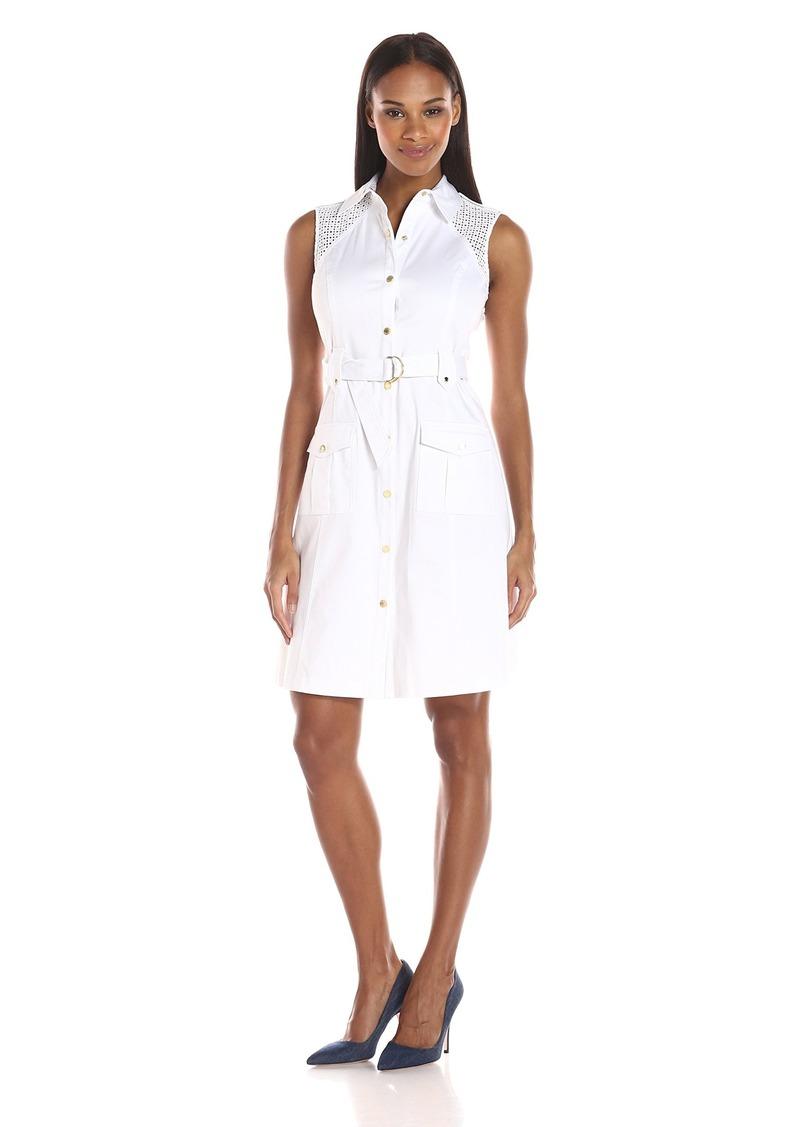 Calvin Klein Women's Sleeveless Shirt Dress
