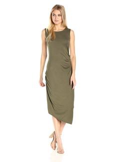 Calvin Klein Women's Sleeveless Side Ruched Dress  L