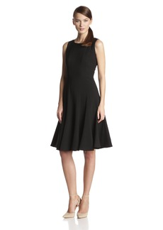 Calvin Klein Women's  Sleeveless Solid Flare Dress