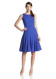 Calvin Klein Women's Sleeveless Solid Flare Dress