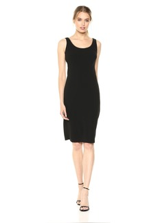 Calvin Klein Women's Sleeveless Solid Sheath with Gold Trimming