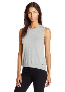 Calvin Klein Women's Sleeveless Solid Shell Top  XS