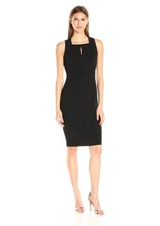 Calvin Klein Women's Sleeveless Square Neck Sheath Dress Black 1