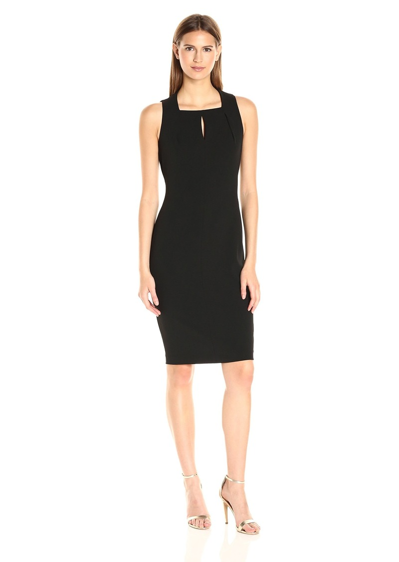 Calvin Klein Women's Sleeveless Square Neck Sheath Dress Black 1