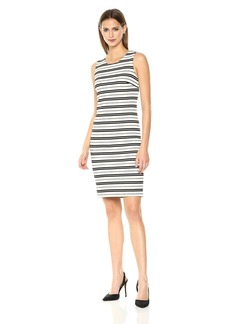 Calvin Klein Women's Sleeveless Stripe Sheath Dress