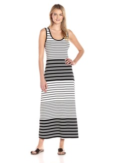 Calvin Klein Women's Sleeveless Striped Maxi Dress  M