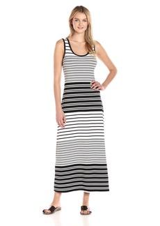 Calvin Klein Women's Sleeveless Striped Maxi Dress  XS