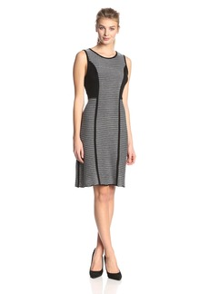 Calvin Klein Women's Sleeveless Striped Sweater Dress