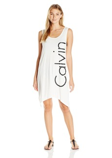 Calvin Klein Women's Sleeveless T-Shirt Dress Cover up