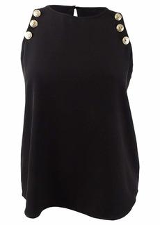 Calvin Klein Women's Sleeveless Tank with Buttons