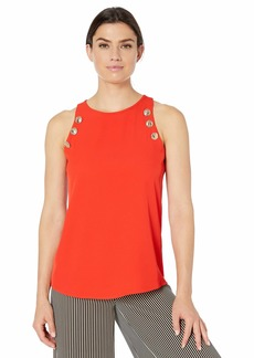 Calvin Klein Women's Sleeveless Tank with Buttons