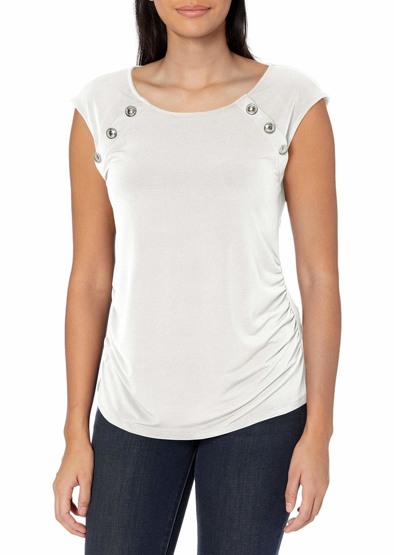 Calvin Klein Women's Sleeveless TOP with Button Detail