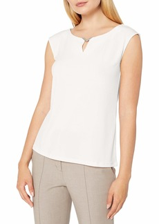 Calvin Klein Women's Sleeveless Top with Hardware