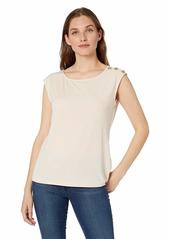 Calvin Klein Women's Sleeveless Top with Shoulder Detail