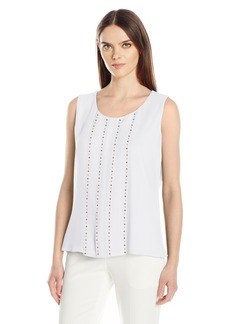 Calvin Klein Women's Sleeveless Top With Stud Detail  L