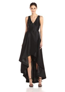 Calvin Klein Women's Sleeveless V-Neck High Low Gown with Back Zipper
