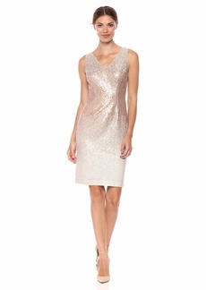 Calvin Klein Women's Sleeveless V-Neck Sequin Cocktail Dress