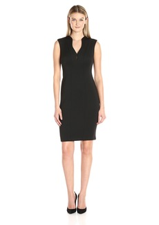Calvin Klein Women's Sleeveless V-Neck Sheath Dress