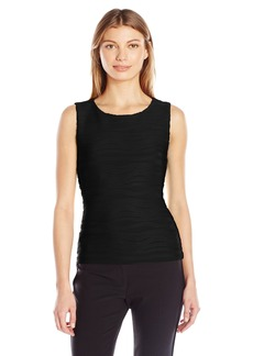 Calvin Klein Women's Sleeveless Wavy Knit Top black XS