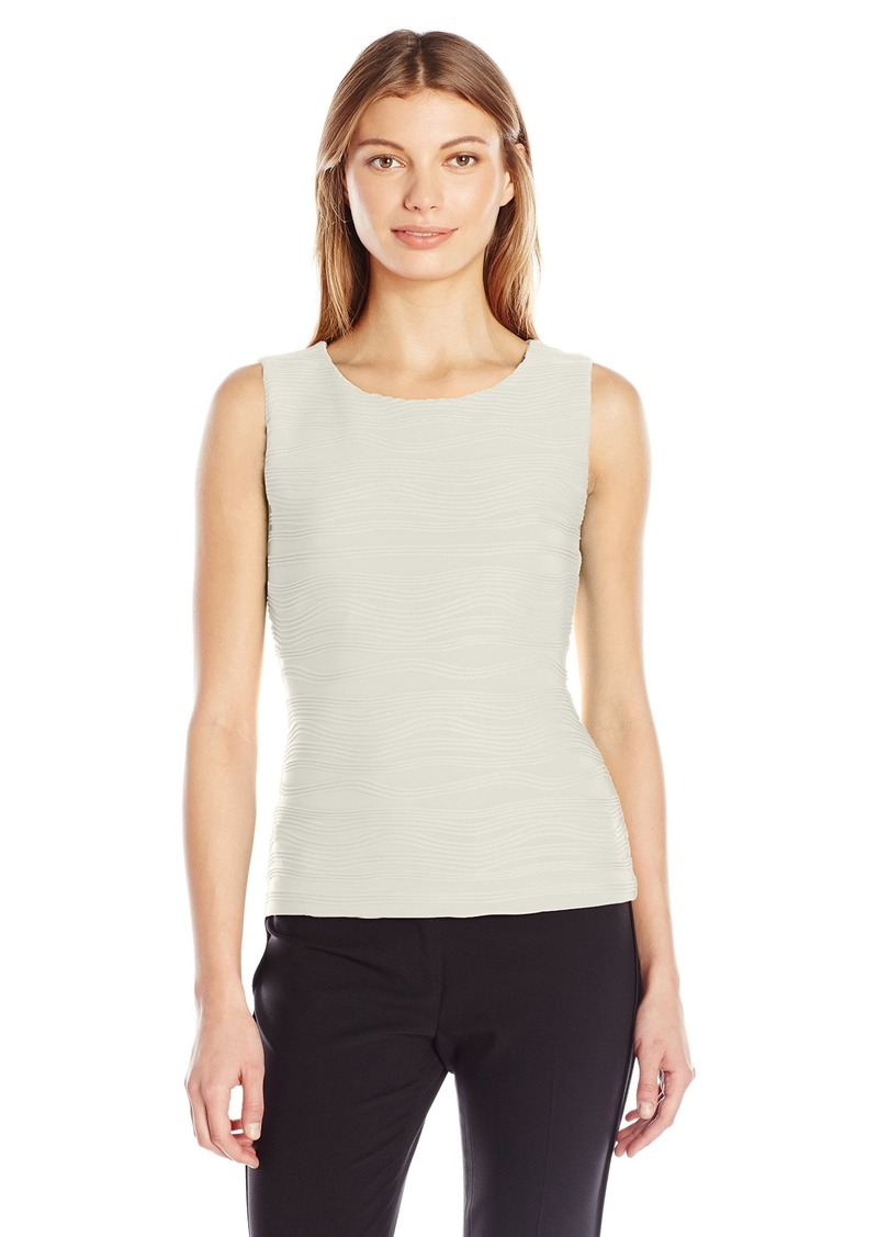 Calvin Klein Women's Sleeveless Wavy Knit Top  S