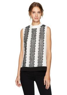 Calvin Klein Women's Sleeveless Woven Lace Top  XL
