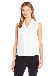 Calvin Klein Women's Sleeveless Wrinkle Free Button Down Shirt