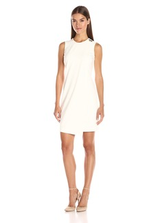 Calvin Klein Women's Sleevelss Overlay Sheath Dress