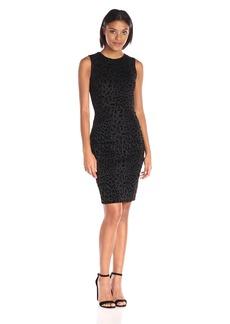 Calvin Klein Women's Sleevess Flocked Sheath Dress