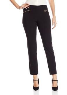Calvin Klein Women's Slim Suiting Pant with Zipper