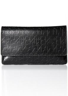 Calvin Klein Women's Smooth Semi-Shine Leather Belt Bag with Debossed Logo