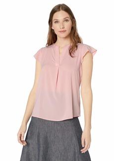 Calvin Klein Women's Solid Flutter Sleeve Top