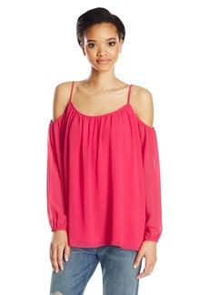 Calvin Klein Women's Solid Long Sleeve Off The Shoulder Top  XL