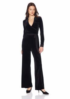 Calvin Klein Women's Solid Mock Wrap Jumpsuit with Self Belt