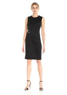 Calvin Klein Women's Solid Sheath Dress with Hardware