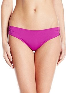 Calvin Klein Women's Solid Side Shirred Bikini Bottom