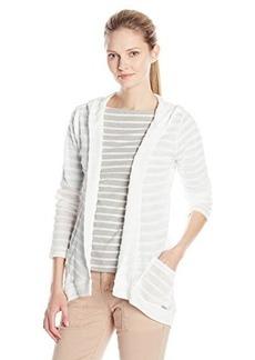 Calvin Klein Women's Solid Striped Sweater Flyaway
