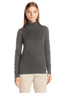 Calvin Klein Women's Long Sleeve Pullover Turtleneck