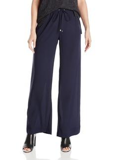 Calvin Klein Women's Solid Wide Leg Pant  L