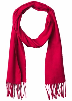 Calvin Klein Womens Solid Woven Scarf Rouge