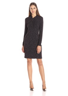 Calvin Klein Women's Spacedye Dress W/ Knot Neck  L