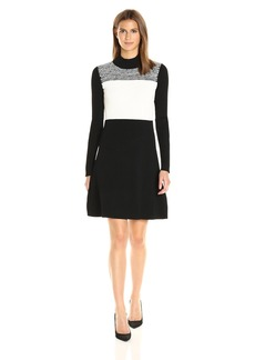 Calvin Klein Women's Spacedye Sweater Dress  L
