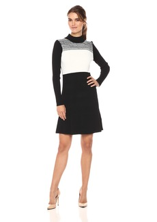 Calvin Klein Women's Spacedyed Sweater Dress  L