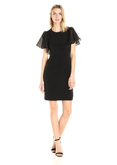 Calvin Klein Women's S/S Flutter Dress  L