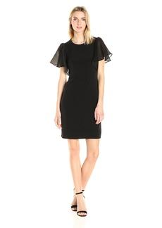 Calvin Klein Women's S/s Flutter Dress  S