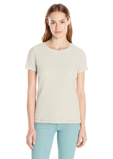 Calvin Klein Women's S/s Stretch Lace Top
