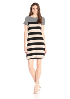 Calvin Klein Women's S/s Stripe T-Shirt Dress