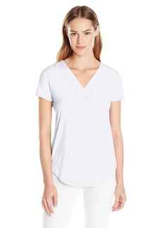 Calvin Klein Women's S/S Top W/ Lace Back
