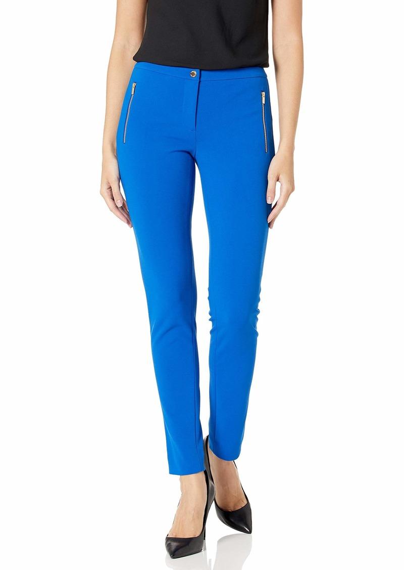 Calvin Klein Women's Straight Leg Zip Pocket Pant