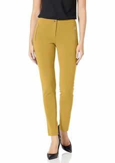 Calvin Klein Women's Straight Leg Zip Pocket Pant