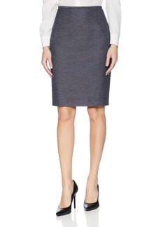 Calvin Klein Women's Straight Linen Blend Skirt